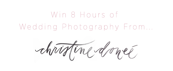 EXTENDED! Win A Wedding Photography Package from Christine Donee