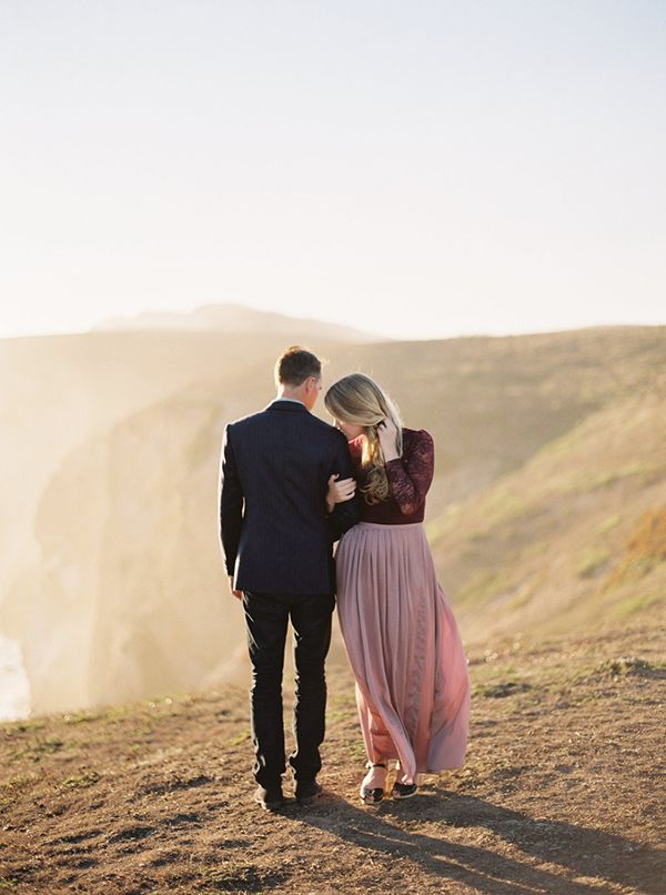 Breathtaking Cliffside Engagement