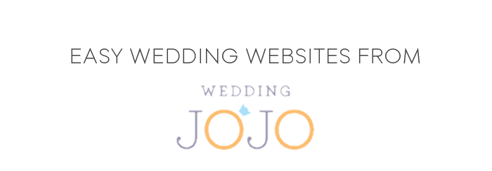 Easy Wedding Websites from Wedding JoJo