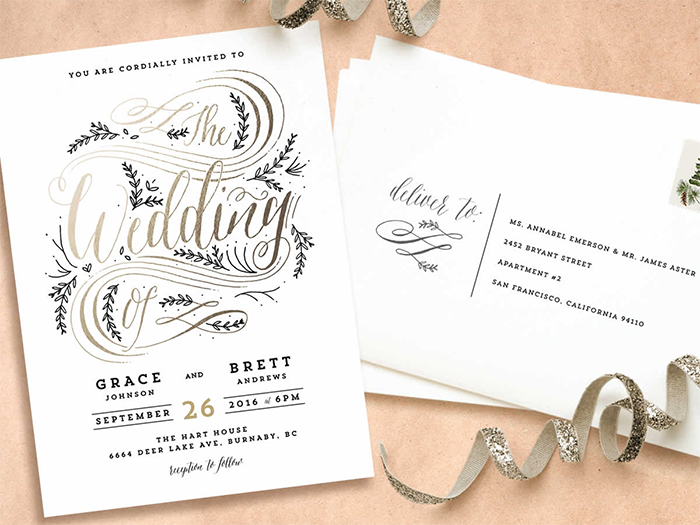 Introducting Minteds 2015 Wedding Invitations Sponsors Oncewedcom