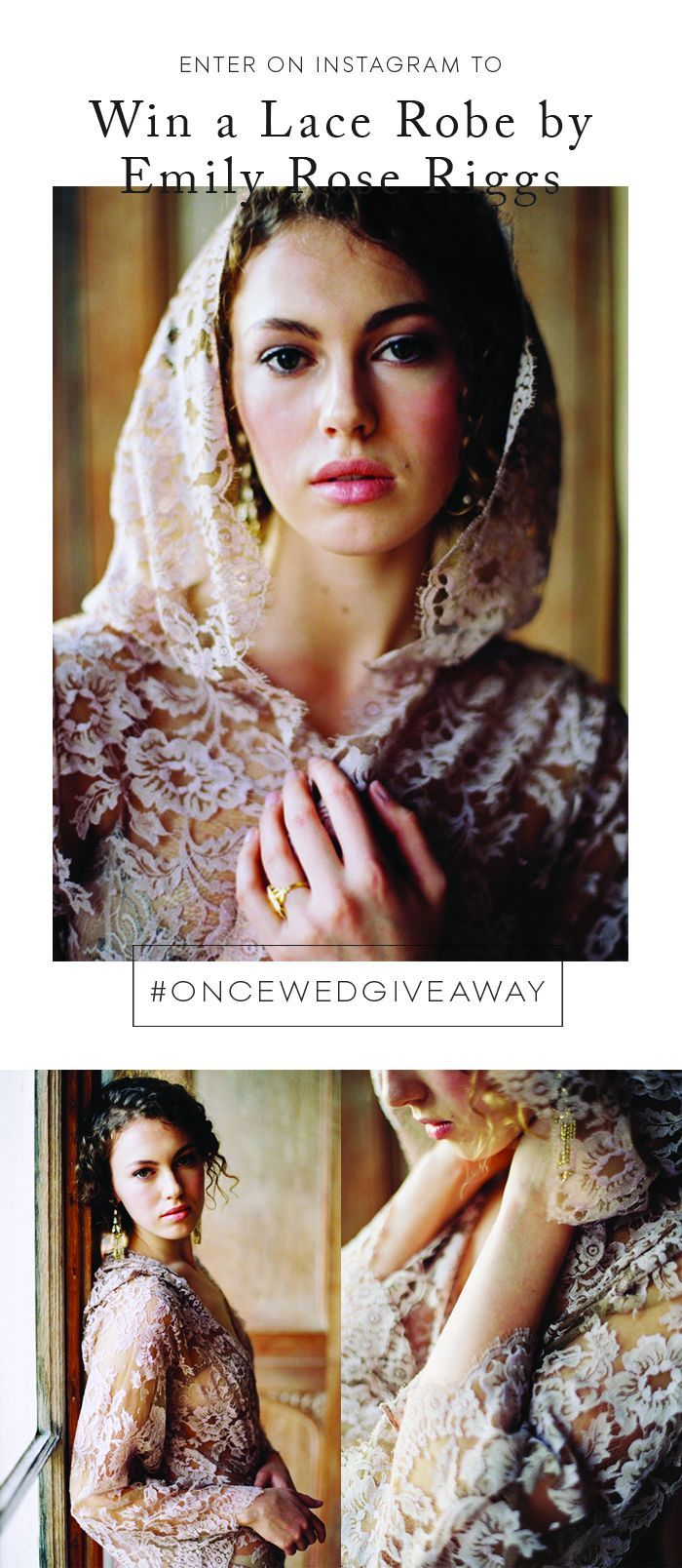 Instagram Giveaway! Emily Riggs Lace Robe #oncewedgiveaway