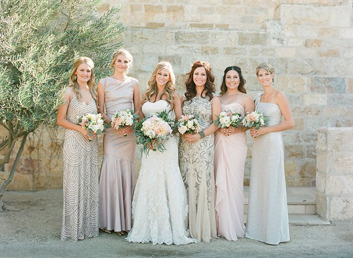 28 Pink Gold Blue Bridesmaid Dresses