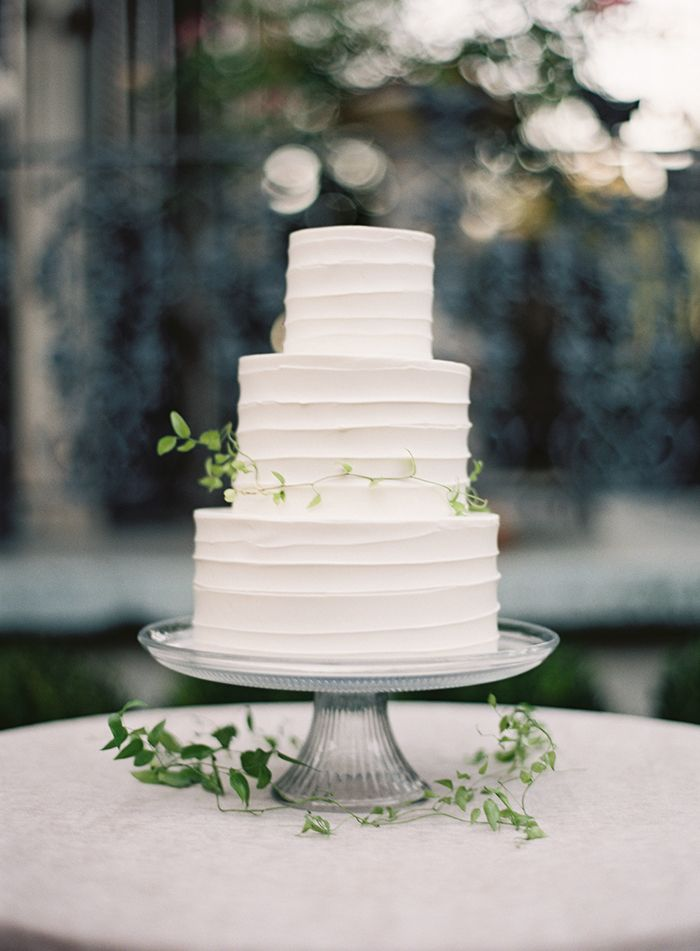8simplewhite3tierweddingcake Once Wed - 3 Tier Wedding Cakes