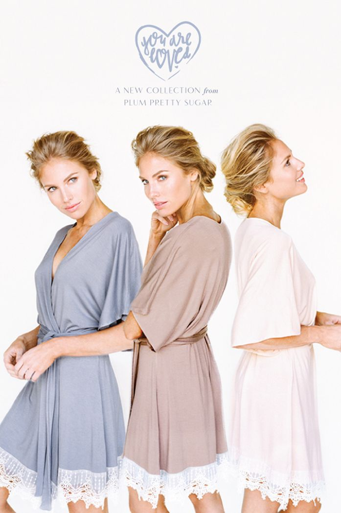 Delicate Bridal Robes from Plum Pretty Sugar