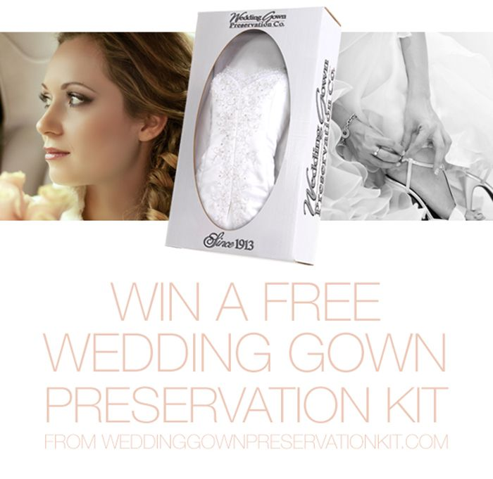 WEDDING GOWN PRESERVATION KIT GIVEAWAY | Sponsors | Oncewed.com