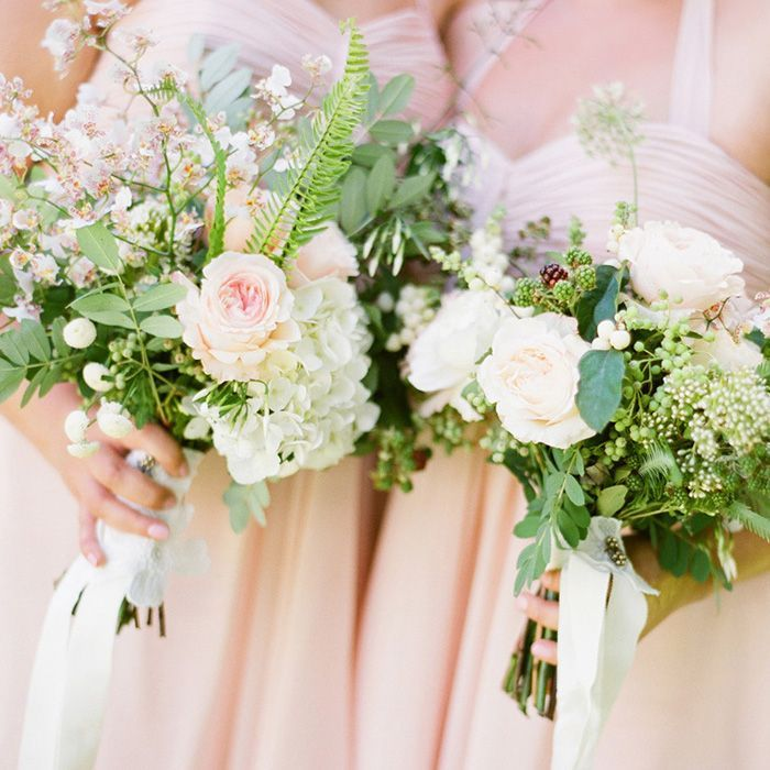 11-pink-rose-white-green-wedding-bouquet - Once Wed