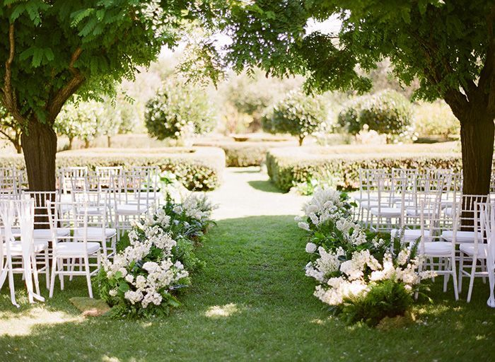 Simple Outdoor Ceremony Decorations: A Whimsical Garden Wedding