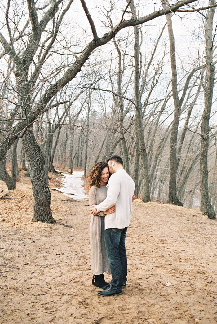 Simple Outdoor Engagement Session Real Weddings