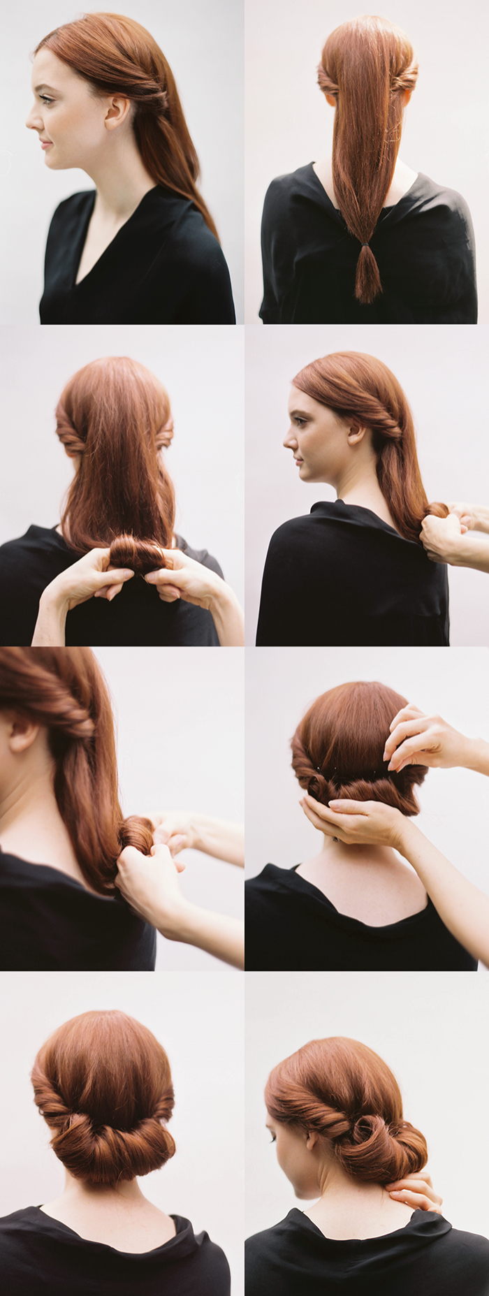 Diy Rolled Chignon Hair Tutorial Diy