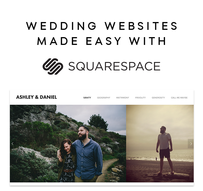 Wedding Websites Made Easy with Squarespace