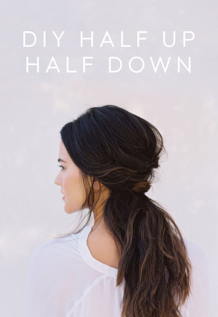 Diy half up half down wedding hair diy weddings oncewed diyhalfupherov2 junglespirit