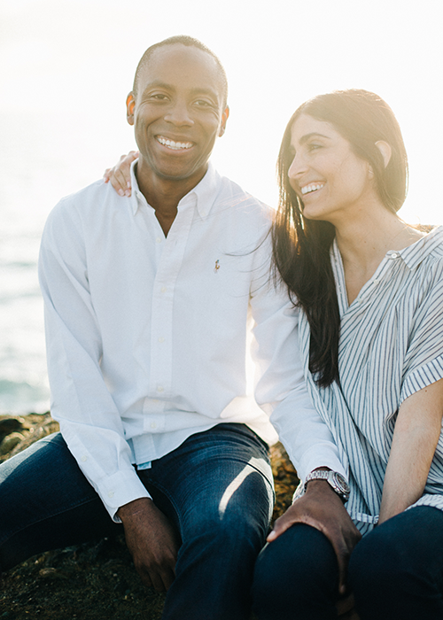 Intimate Waterfront Engagement Session