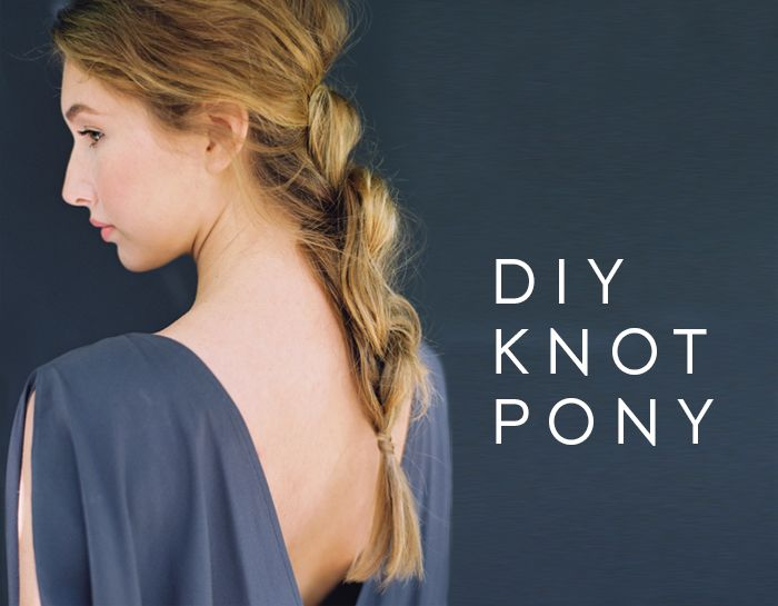 DIY Knot Pony Tail