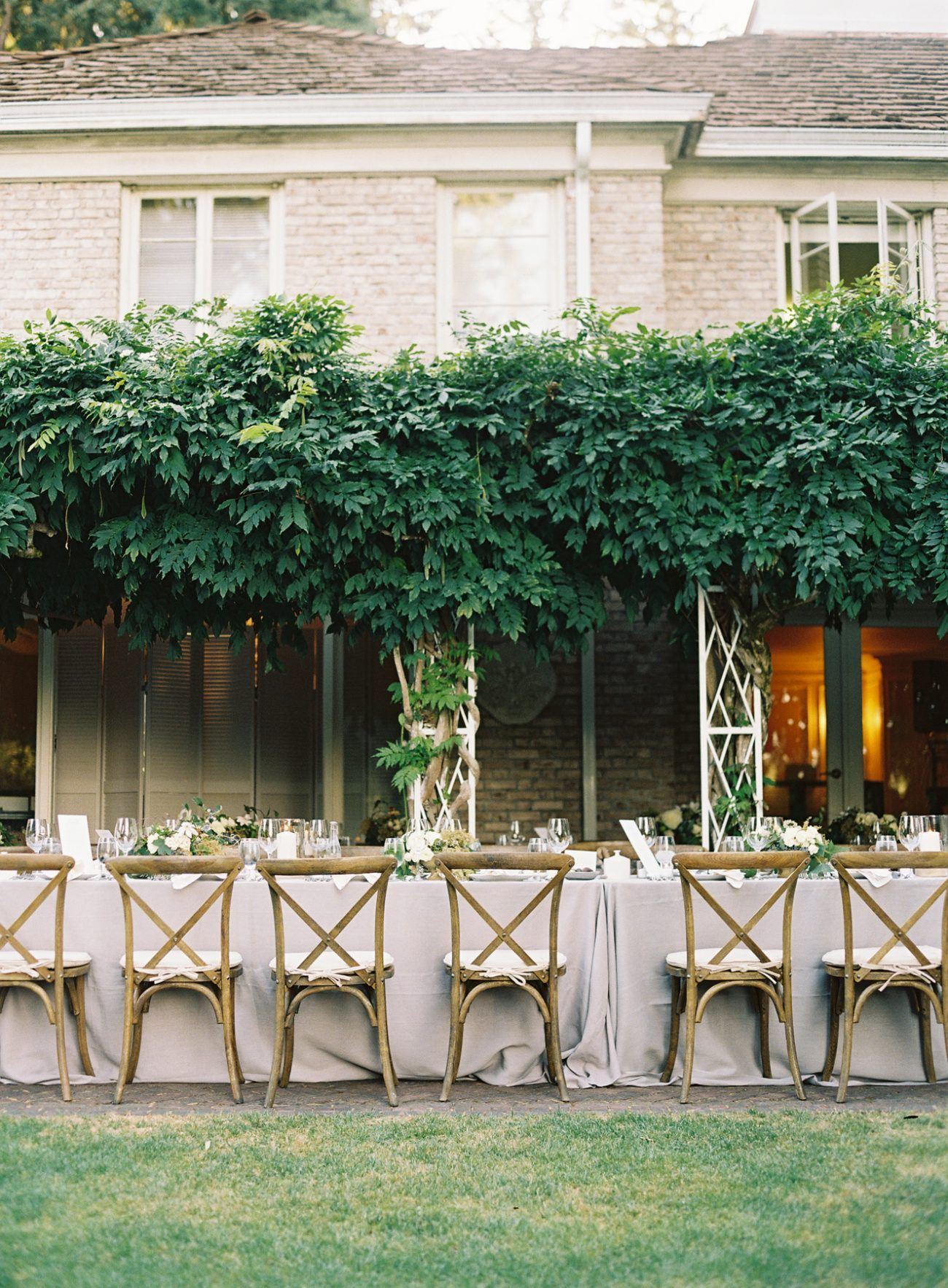 Elegant Garden Wedding Reception