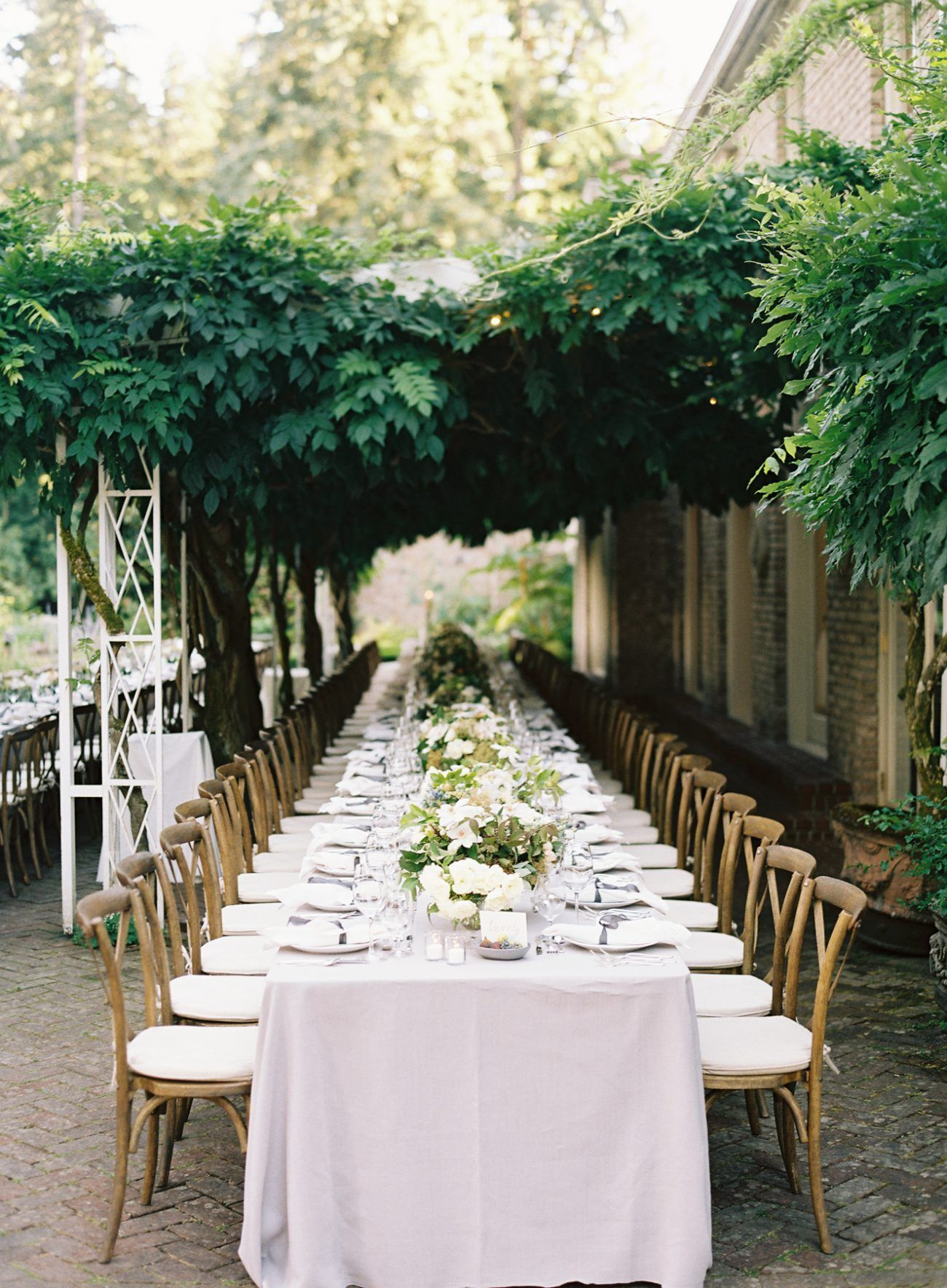 elegant garden wedding reception real weddings