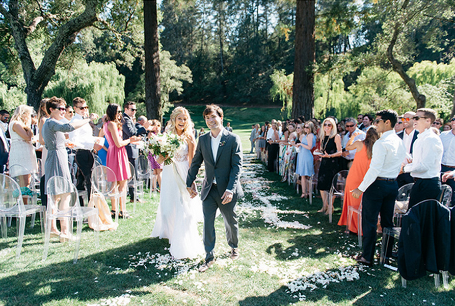 Modern and elegant outdoor wedding part 1 real weddings 27 modern spring outdoor wedding junglespirit Image collections