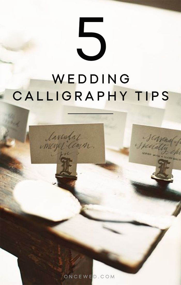 5 Things to Know About Wedding Calligraphy