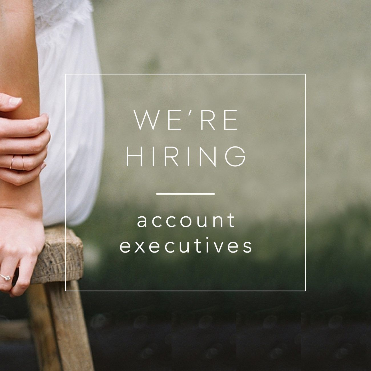 We're Hiring: Once Wed Account Executive!