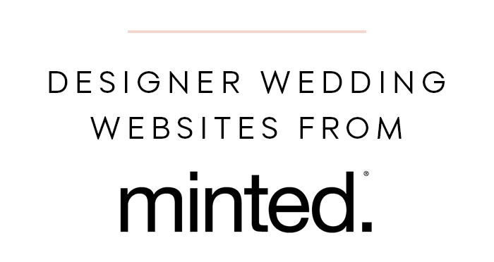 Designer Wedding Websites from Minted