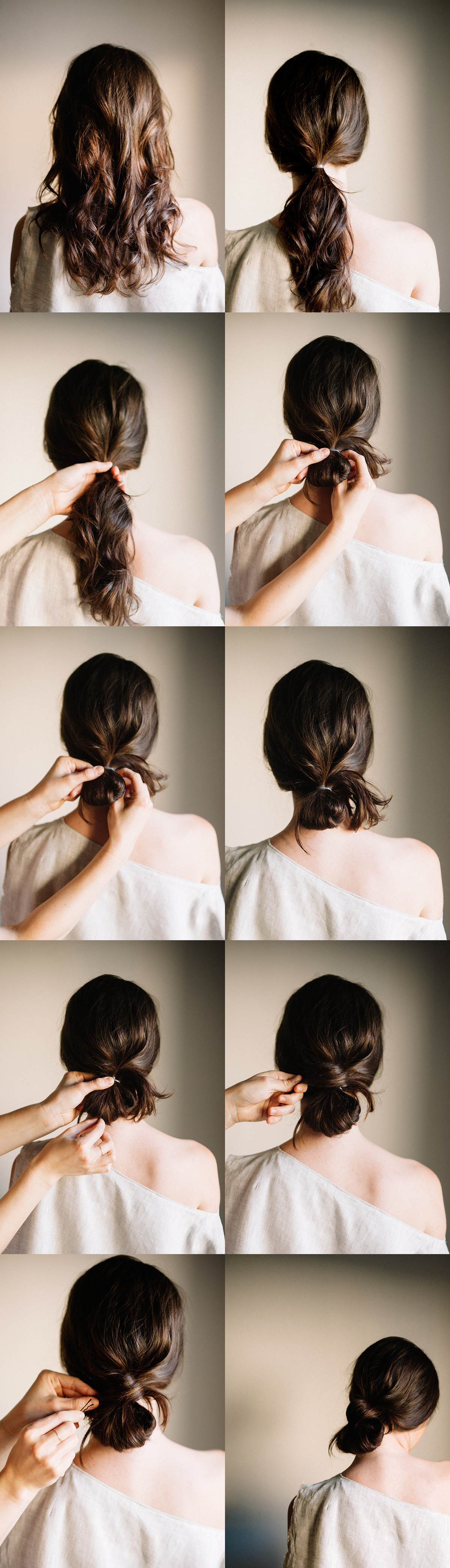 diy-low-knot-wedding-hairstyles-for-long-hair