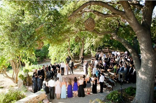 rustic-Ojai-garden-wedding-ceremony-decor-people-wedding-party