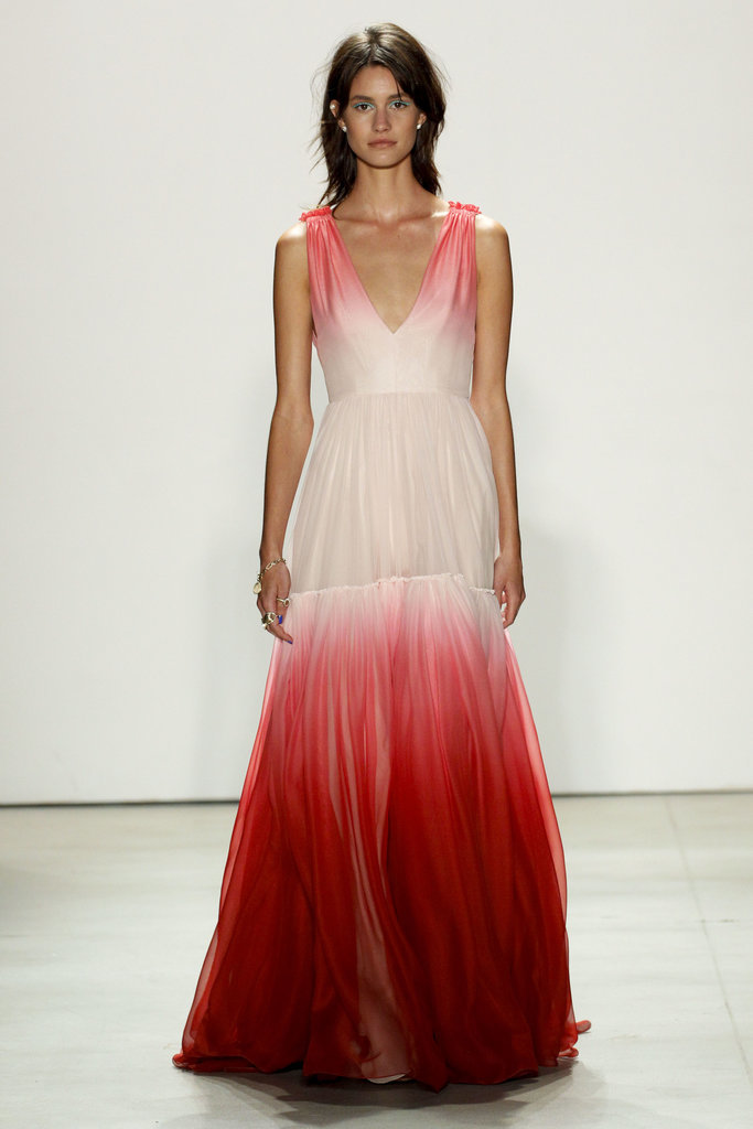 Jenny Packham Saturated brights get with a soft touch in a flowy ombre gown, a dress to impress any guest at your bridal shower
