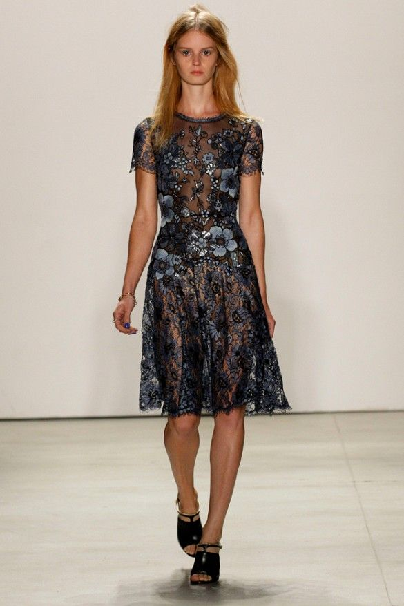 Jenny Packham Dark florals are bridal without being too precious, evening formal or rehearsal dinner