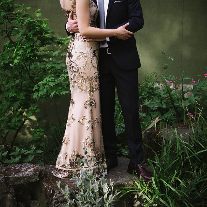 11-glam-pink-gold-wedding-gown