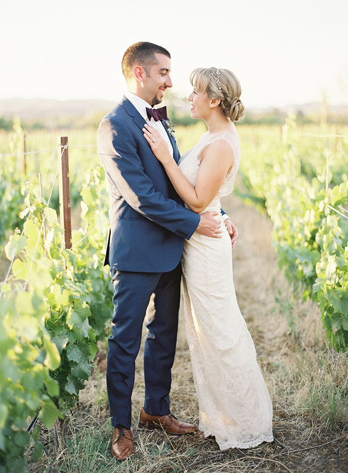 Elegant Berry Toned Real Wedding