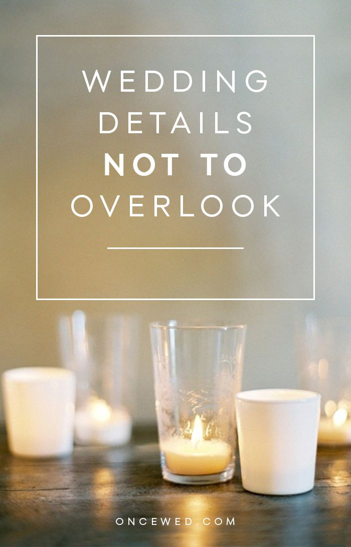 Important wedding details not to overlook