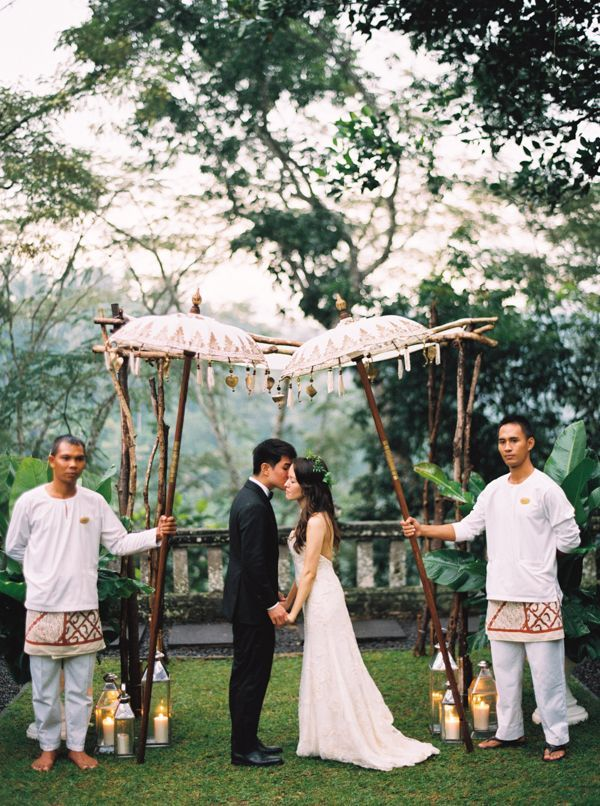 Elegant destination wedding in bali real weddings for Bali wedding decoration ideas