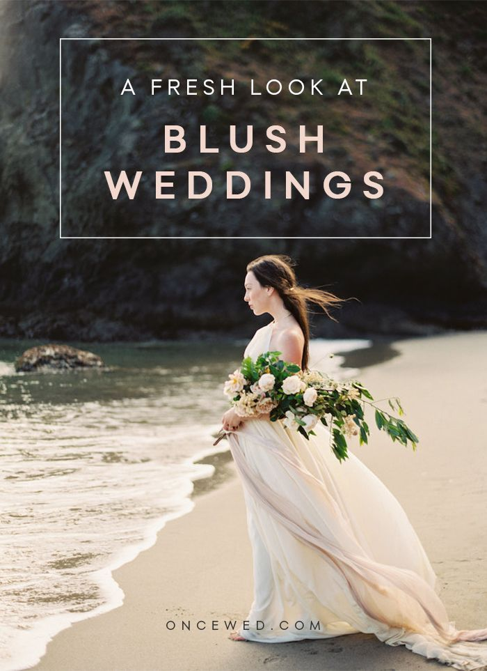 A new take on blush wedding inspiration