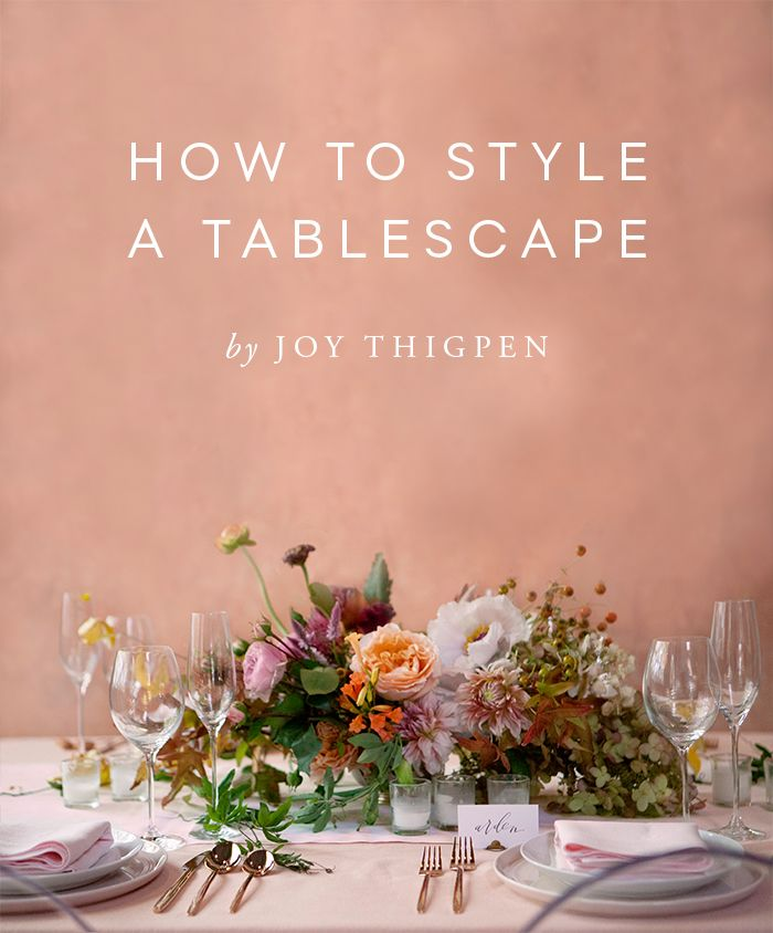 Styling a Tabletop for Camera