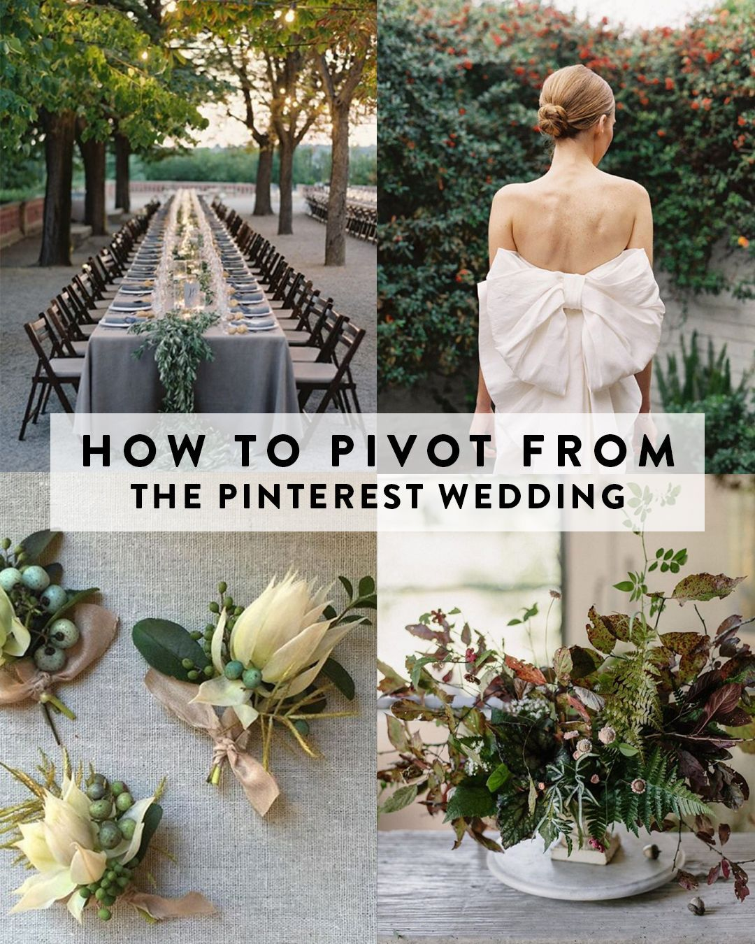 A Cure for the Pinterest Wedding