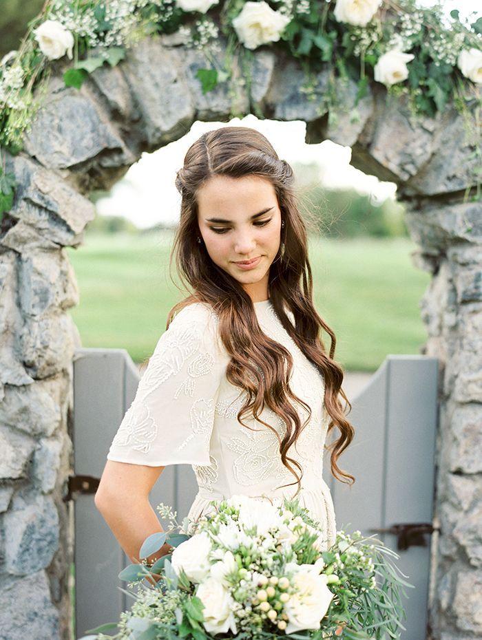Easy Hairstyles For Wedding Reception : Simple and elegant outdoor wedding reception once wed
