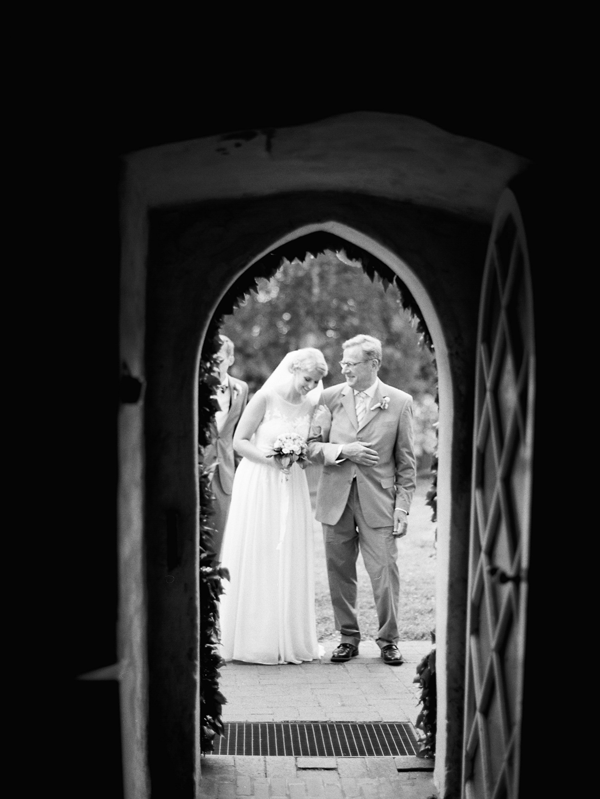 GERMANY: Delicate and Romantic Wedding | The ceremony was at St. Jürgen, a 13th century church located an art village near their hometown in Germany.