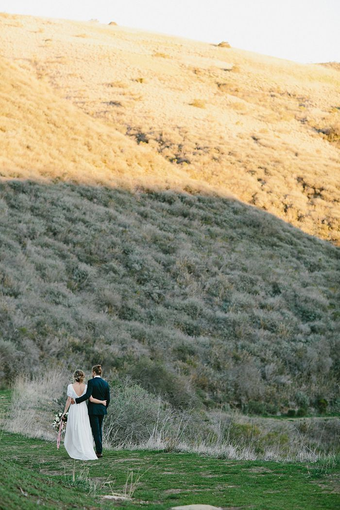 CALIFORNIA: Unique Destination Wedding | The couple's main priority was to spend as much time as possible with friends and family, so the wedding was held over Christmas weekend. Guests rented cabins at El Capitan Canyon, rented bikes, rode horses, and celebrated Christmas in a traditional yurt.