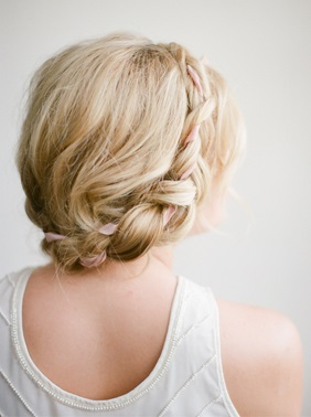 DIY Ribbon Halo Braid    The ladies of Frou Frou Chic and Irrelephant worked together to design this bohemian-inspired halo braid that would be gorgeous on any bride bold enough to try this flawless look on her wedding day.