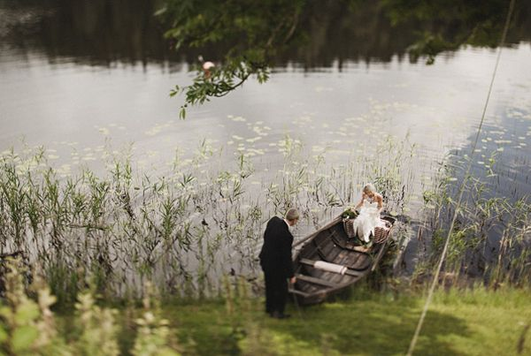 SWEDEN: Wedding by the Water | The decorations that were tenderly assembled by the couple and their loved ones set an intimate tone.