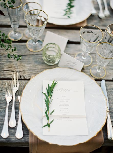 Organic Winter Table Setting