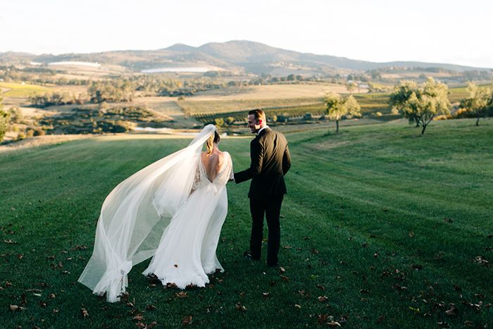 AUSTRALIA: Fall Destination Wedding | This couple decided to say their vows in the city of Orange, where they first met. Guests were able to enjoy the area's excellent wine and food over a long weekend.