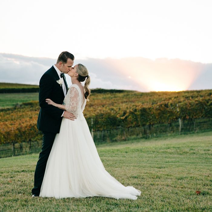 AUSTRALIA: Fall Destination Wedding | Incredible hillside views are the perfect backdrop for this chic and elegant destination wedding.