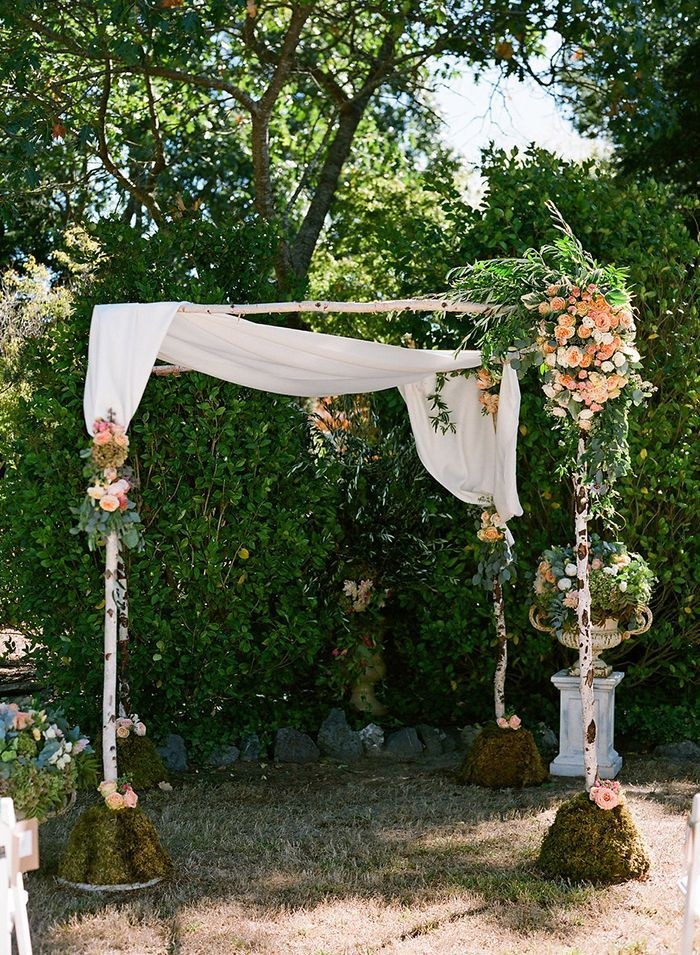 Bold outdoor indian wedding once wed for Outdoor wedding ceremony decorations pictures