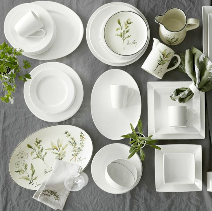 White Tableware Wedding