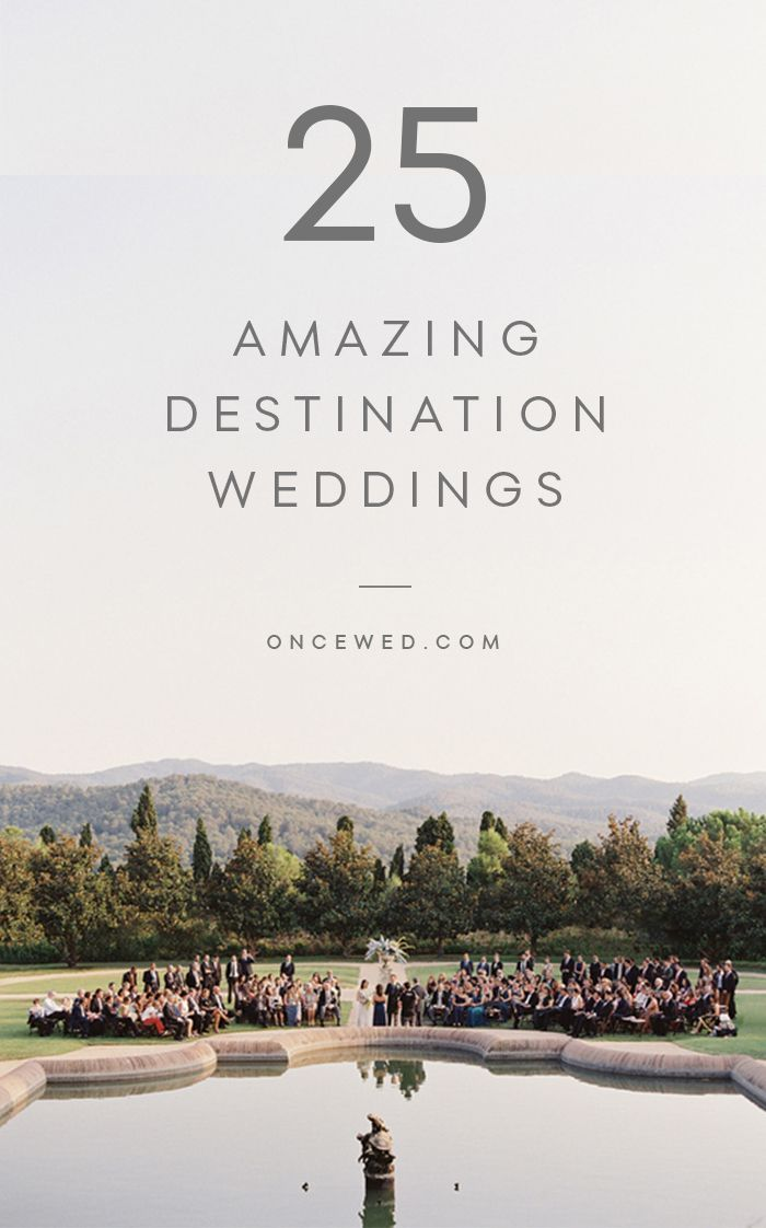 Our Top Destination Weddings