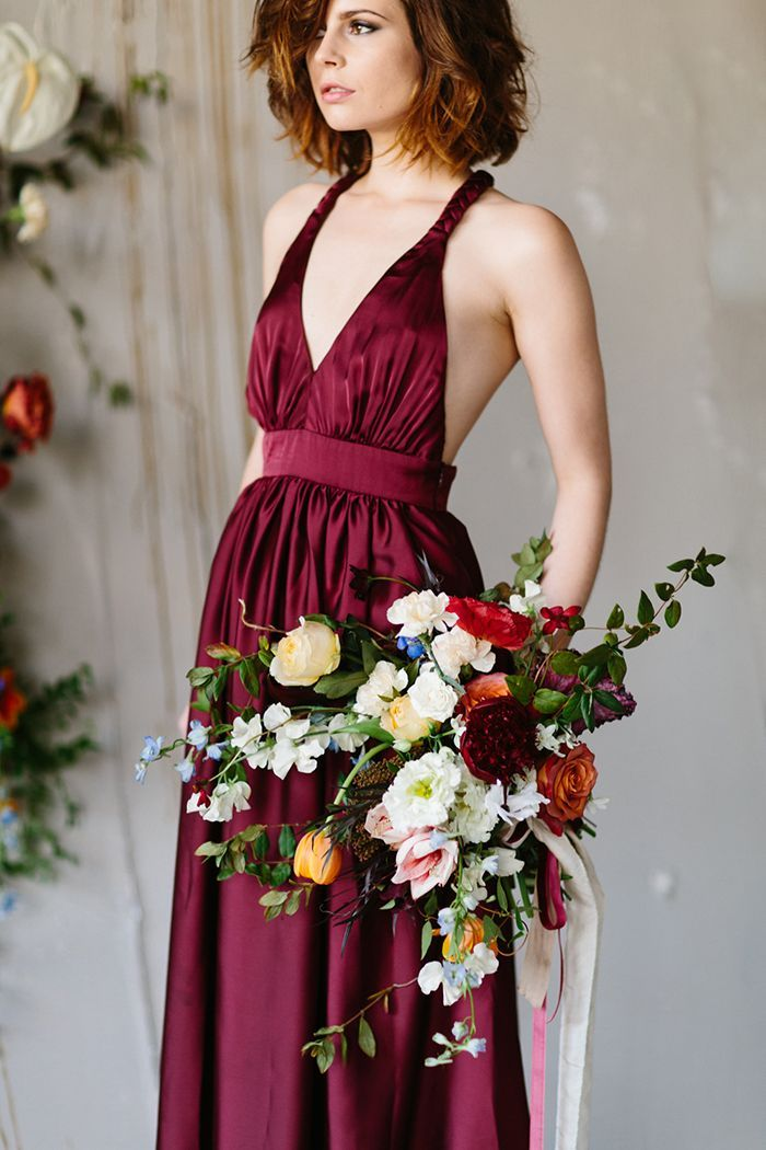 18-burgundy-wedding-dress-inspiration