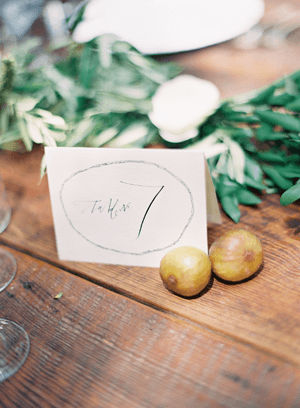 Simple, Rustic Table Number