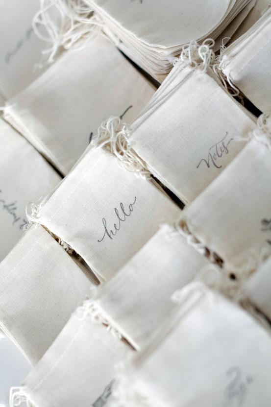 Accessories Don't forget the accessories! These adorable favor bags are a great way to add personality and make your guests smile.