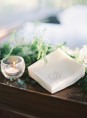 Accessories You can also add a simple monogram to your napkins for a personal and elegant touch.