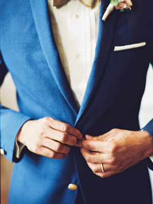 Velvet Blue Wedding Tux